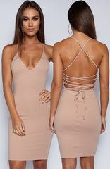 With Bae Dress - Mocha