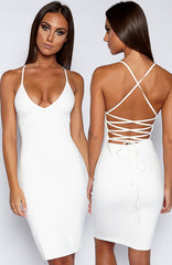 With Bae Dress - White