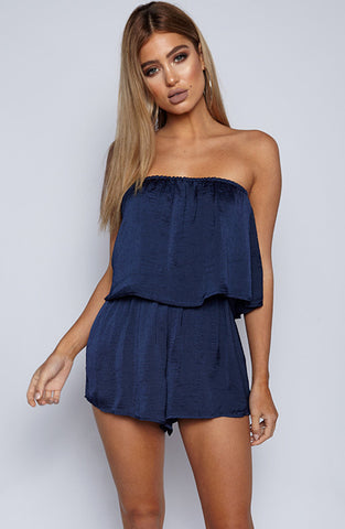On Another Level Playsuit - Navy