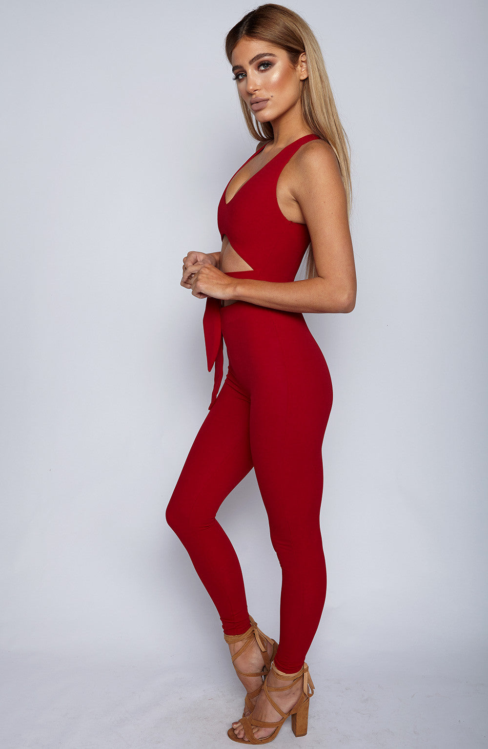 Night Rider Jumpsuit - Red