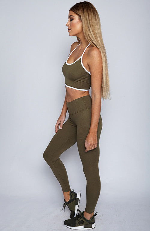 Tumblr Mix Basic Top - Khaki
