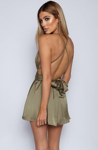Unconditional Love Playsuit - Khaki