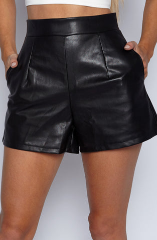 Right On Shorts - Black Shine