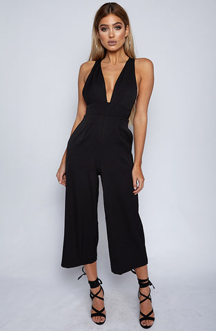Totally Down Jumpsuit - Black