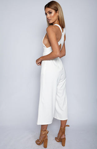 Totally Down Jumpsuit - White