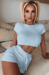 Belle Cozy Crop - Baby Blue