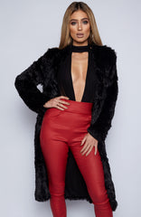 Fux Fur Coat - Black