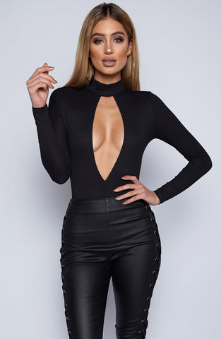 Deep Thoughts Bodysuit - Black