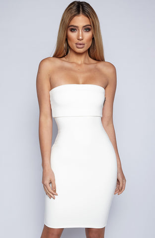 Doubled Up Dress - White