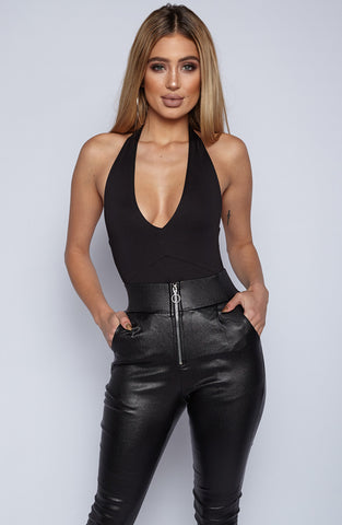 Yas Please Bodysuit Leotard - Black