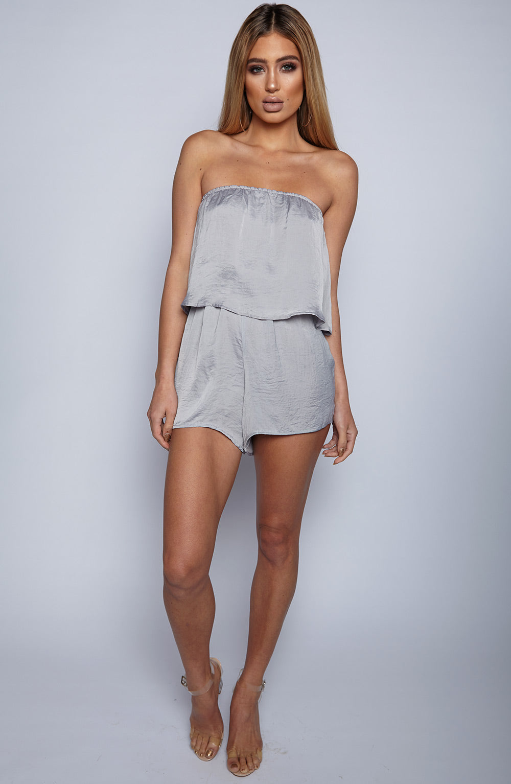 On Another Level Playsuit - Grey
