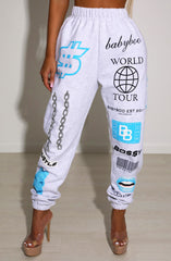 Bossy Graphic Trackpant - Blue
