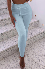 Bree Cozy Pants - Baby Blue