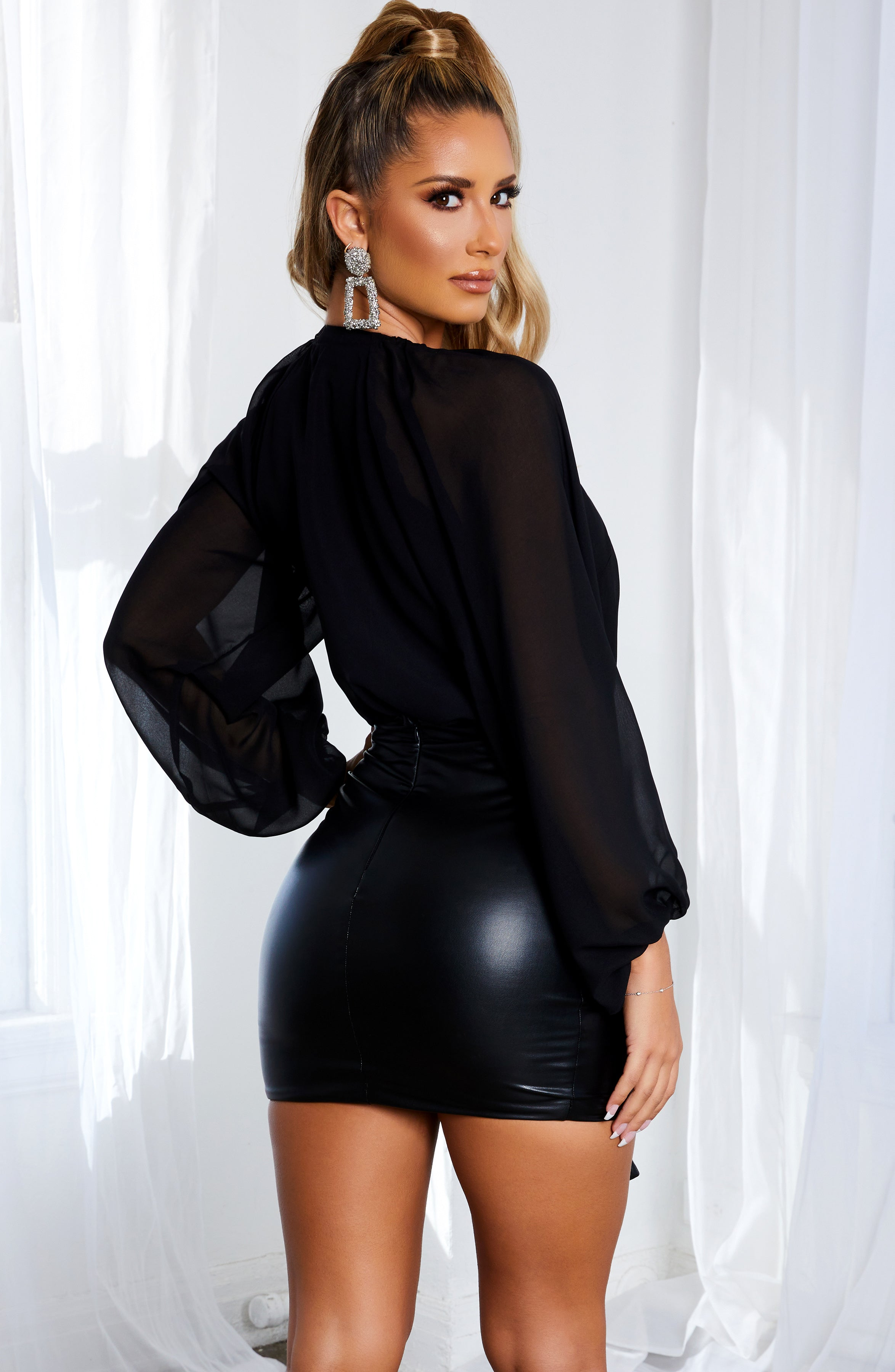 Brianna Mini Skirt - Black