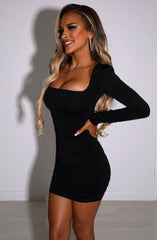 Candice Mini Dress - Black