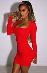 Candice Mini Dress - Red