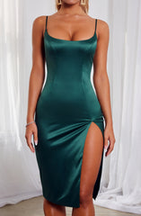 Cassie Midi Dress - Emerald