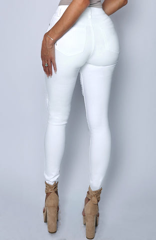 Honey Crush Jeans - White