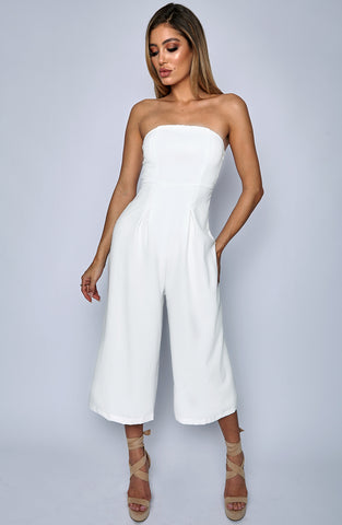 Trap Queen Jumpsuit - White