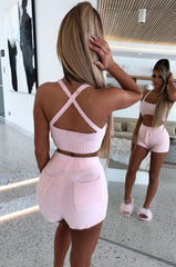 Abby Cozy Crop - Baby Pink