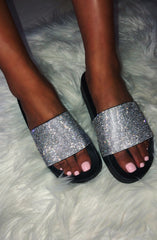 Diamonte Slides - Black