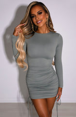 Essence Mini Dress - Khaki