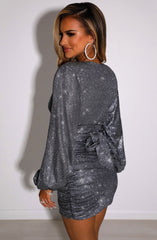 Estelle Mini Dress - Black Sparkle