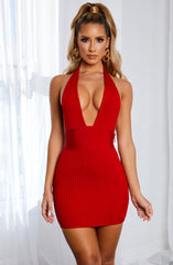 Evanna Bandage Mini Dress - Red