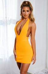 Evanna Bandage Mini Dress - Tangerine
