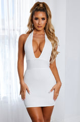 Evanna Bandage Mini Dress - White