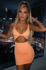 Gia Mini Dress - Tangerine