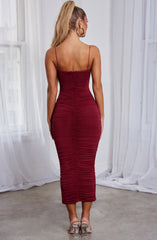 Haven Maxi Dress - Burgundy