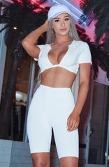 Shani Grimmond x Babyboo - Yes Please Shorts - White