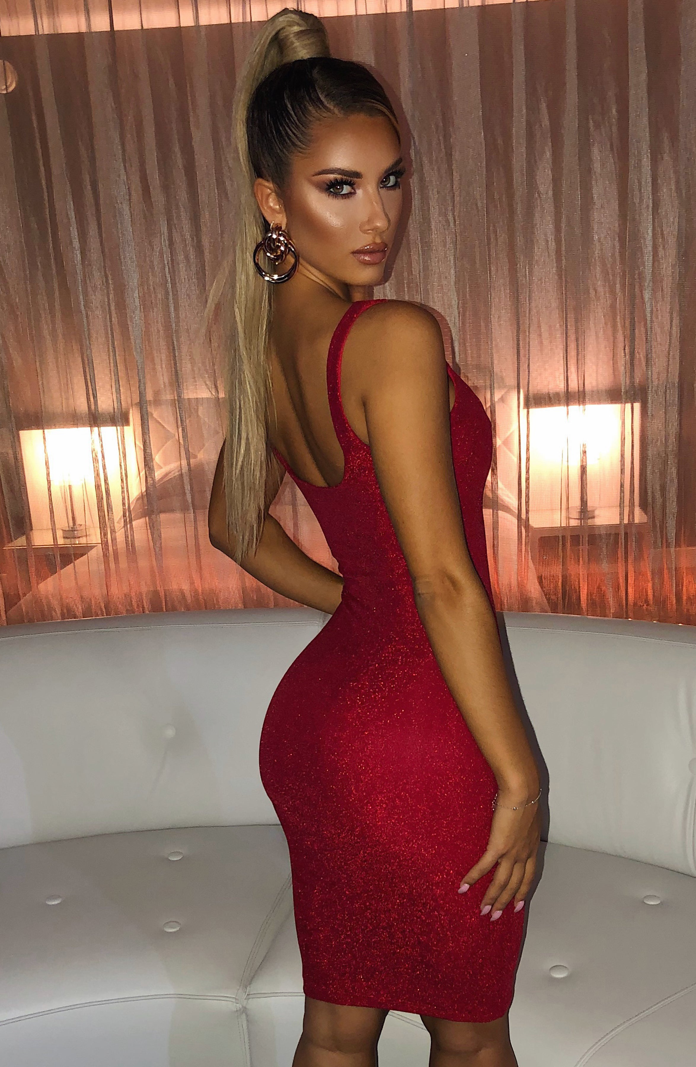 Jada Dress - Red Sparkle