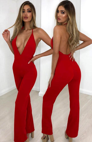 Levetti Jumpsuit - Red