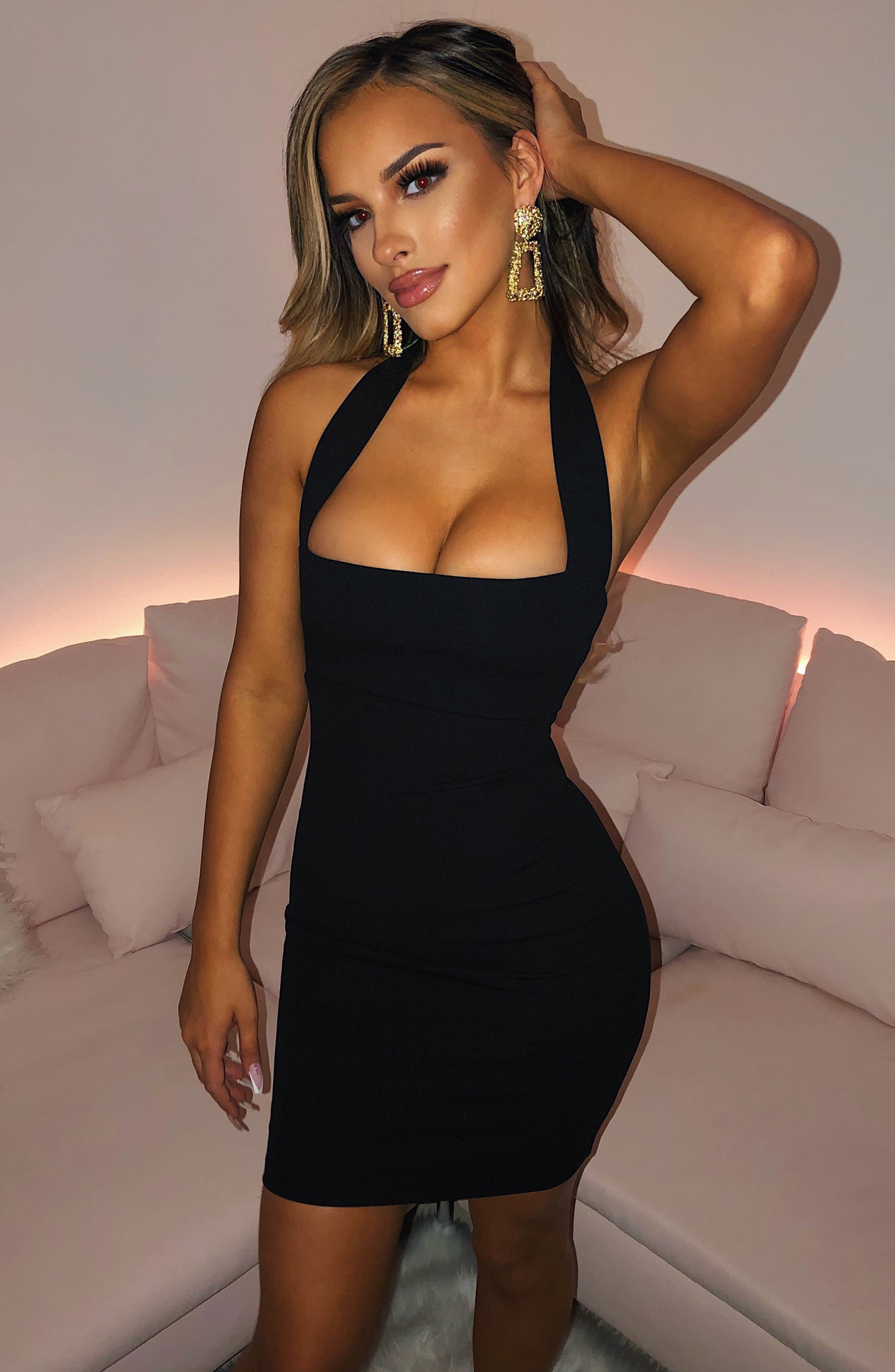 Janice Mini Dress - Black