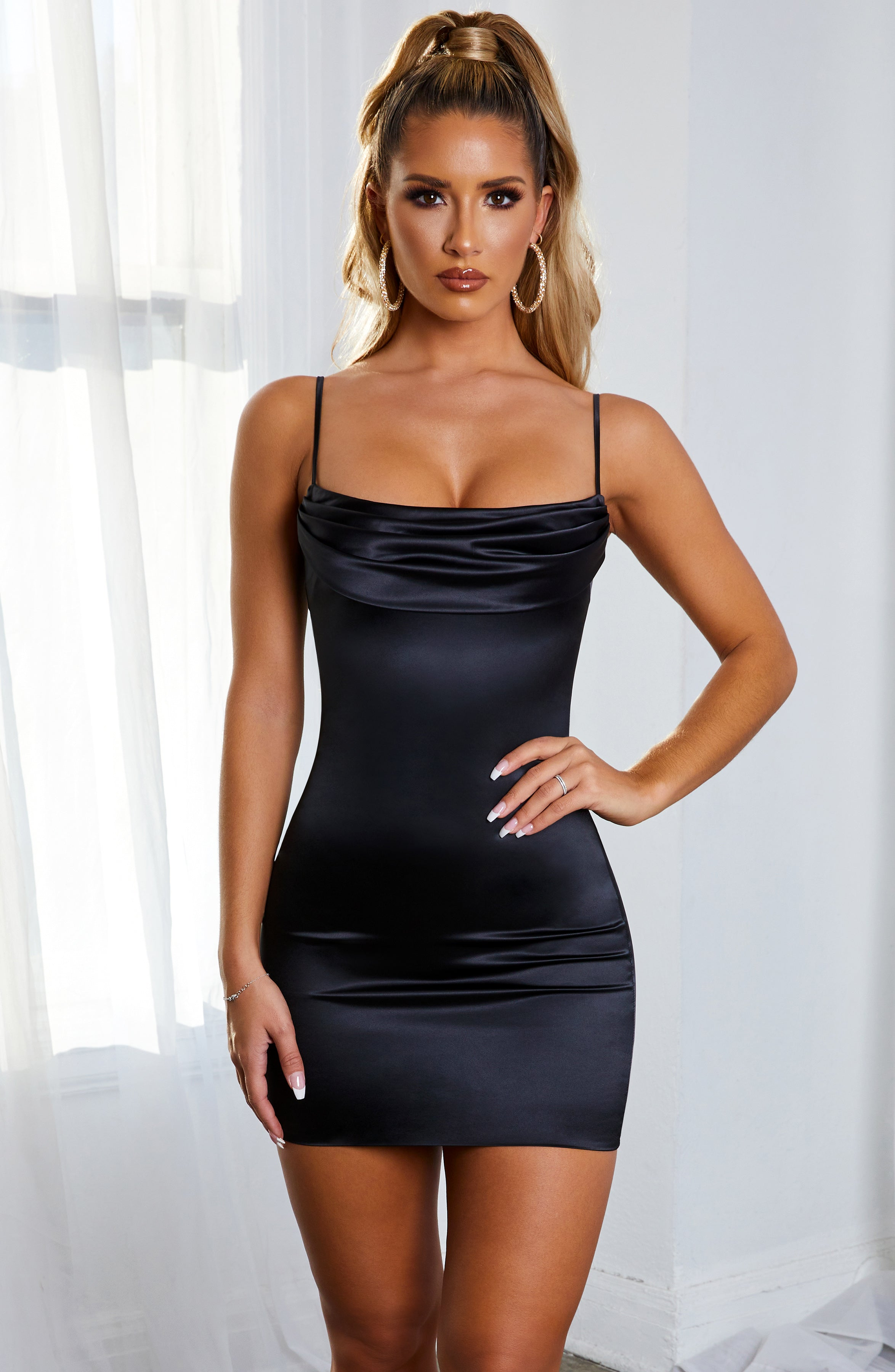 Jasmine Mini Dress - Black