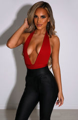 Jayla Bandage Bodysuit - Red