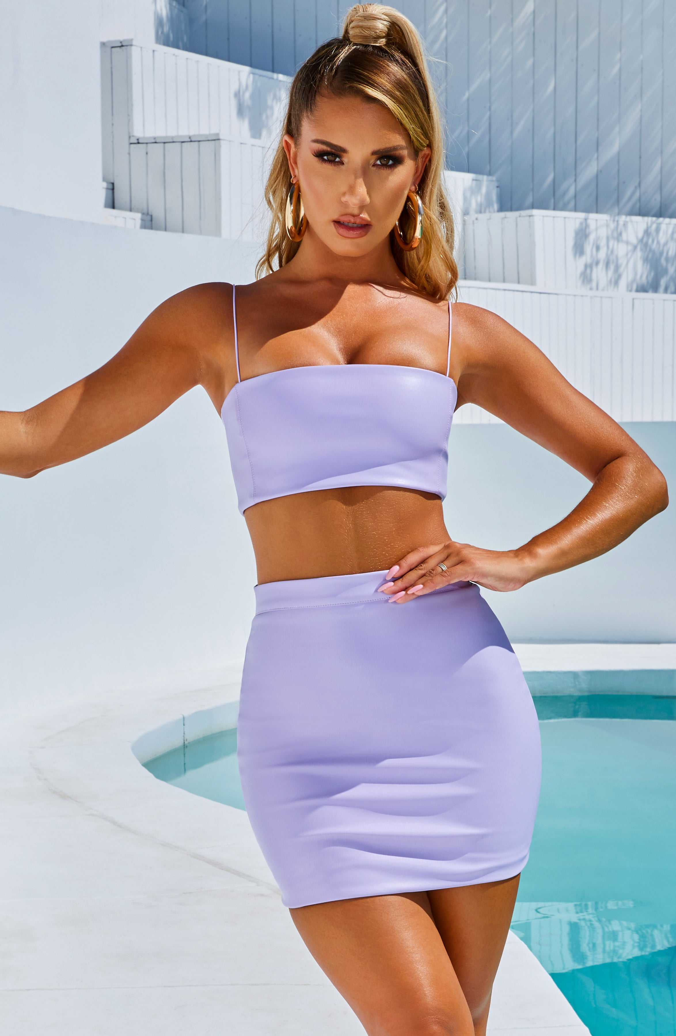Rebel Mini Skirt - Lilac