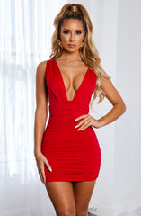 Kahra Mini Dress - Red