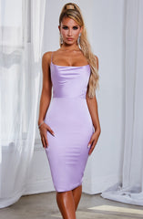 Katiana Midi Dress - Lilac