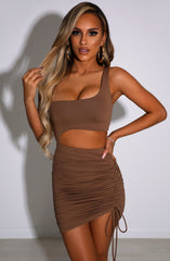 Kiara Mini Dress - Chocolate
