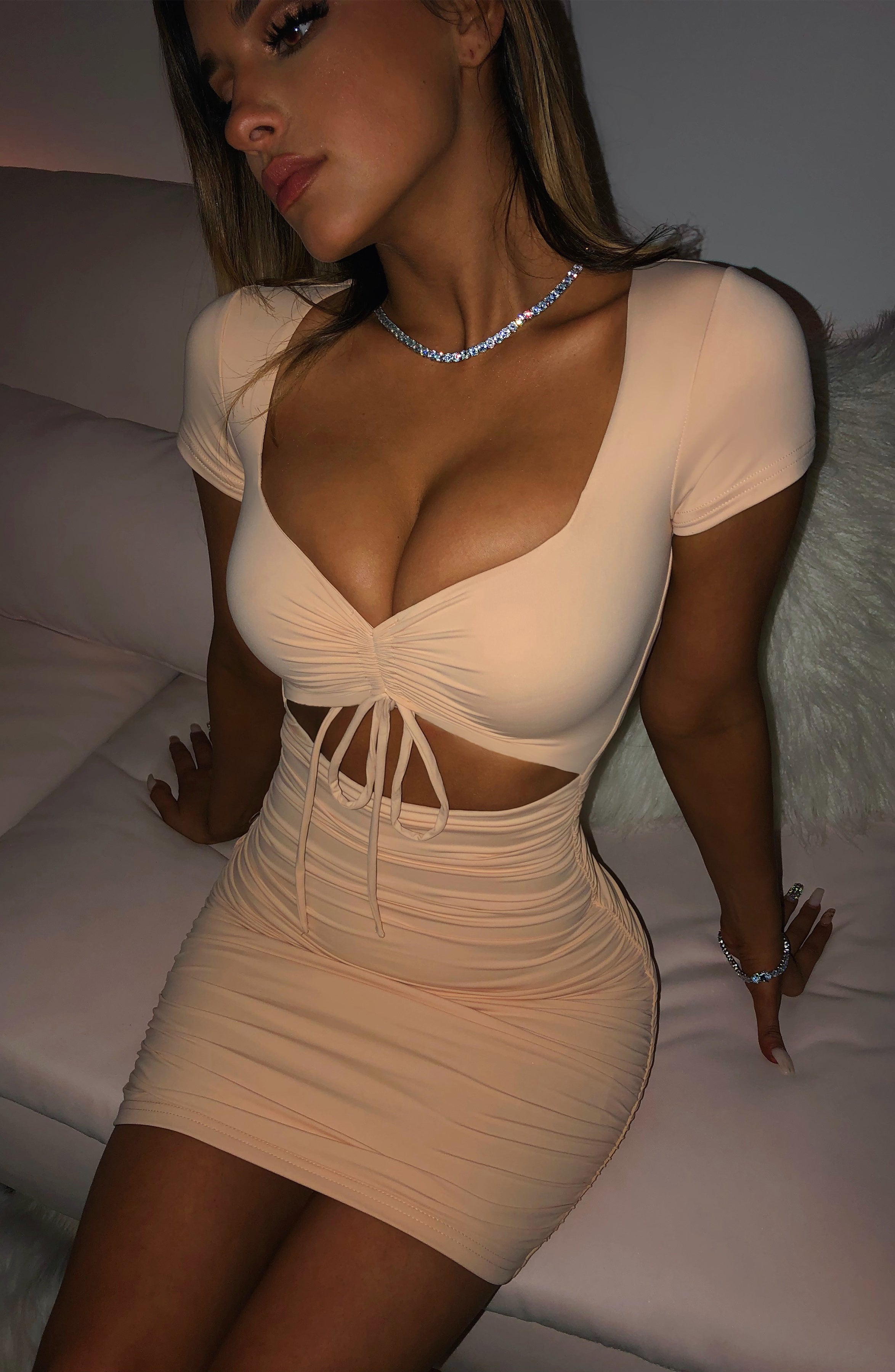 Kiera Mini Dress - Nude