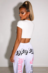 Kiesha Crop - White