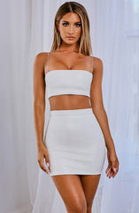 Rebel Mini Skirt - White