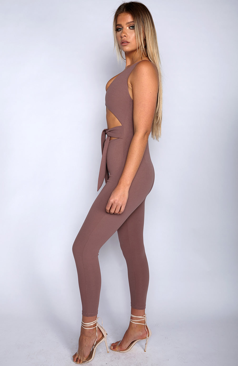 Night Rider Jumpsuit - Mauve