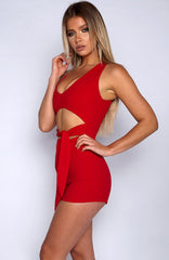 Night Life Playsuit - Red
