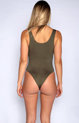 Catch Me Outside Bodysuit - Khaki