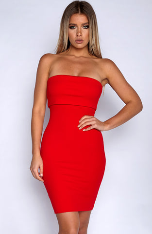 Doubled Up Dress - Red