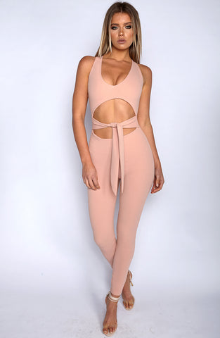 Night Rider Jumpsuit - Dusty Pink